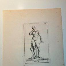 Arte: SATYRE (SÁTIRO) S. THOMASSIN FECIT, LEREMBERG SCULP. 1724. PAPEL 24X20 CM.. Lote 225145390