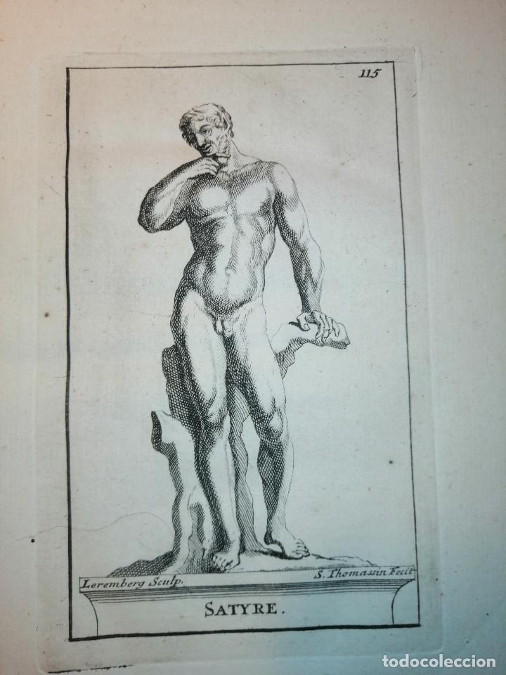 Arte: Satyre (Sátiro) S. Thomassin Fecit, Leremberg Sculp. 1724. Papel 24x20 cm. - Foto 2 - 225145390