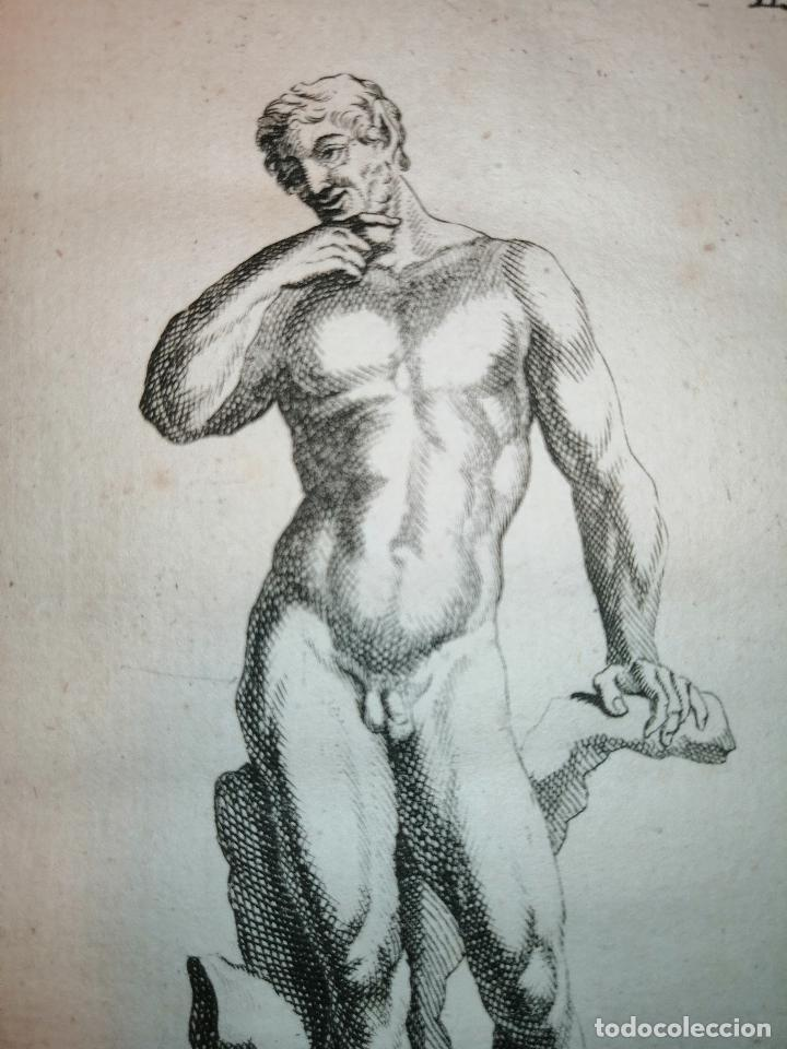 Arte: Satyre (Sátiro) S. Thomassin Fecit, Leremberg Sculp. 1724. Papel 24x20 cm. - Foto 3 - 225145390