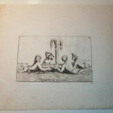 Arte: TRITONS ET NAYADES, S. THOMASSIN FECIT, EST L HONGRE SCULP. 1724. PAPEL 24X20 CM.. Lote 225145847