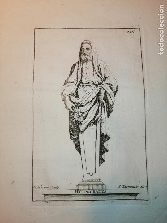 Arte: Platón, Socrates, Diogenes, Hypocrates. S. Thomassin Fecit. 1724. Papel 24x20 cm. - Foto 5 - 225145936