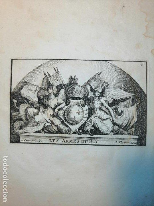 Arte: Les Armes du Roy S. Thomassin Fecit, Le Comte Sculp. 1724. Papel 24x20 cm - Foto 2 - 225215538