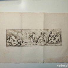 Arte: LE BAIN DE DIANE . S. THOMASSIN FECIT, FR GIRARDON SCULP. 1724. PAPEL 24X41 CM. Lote 225215860