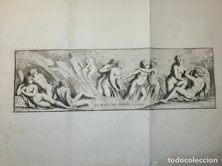 Arte: Le Bain de Diane . S. Thomassin Fecit, Fr Girardon Sculp. 1724. Papel 24x41 cm - Foto 2 - 225215860