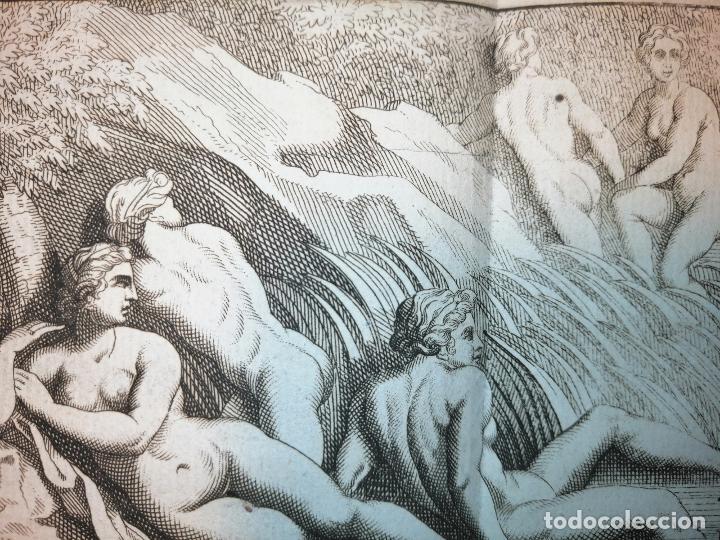 Arte: Le Bain de Diane . S. Thomassin Fecit, Fr Girardon Sculp. 1724. Papel 24x41 cm - Foto 3 - 225215860