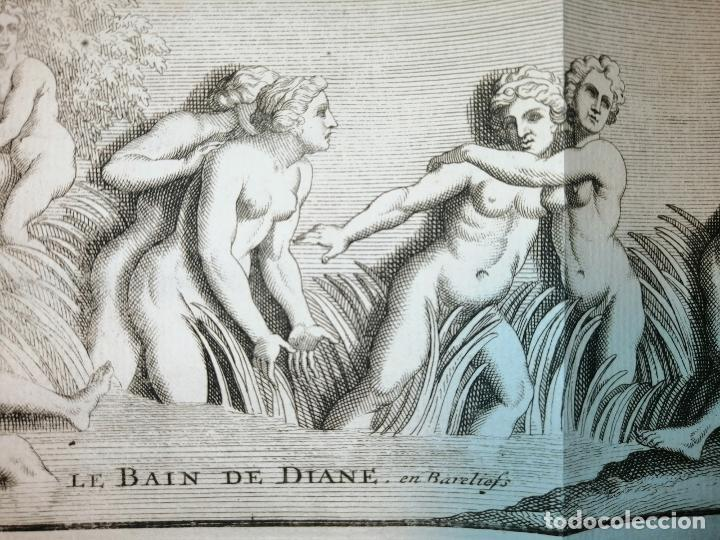 Arte: Le Bain de Diane . S. Thomassin Fecit, Fr Girardon Sculp. 1724. Papel 24x41 cm - Foto 4 - 225215860