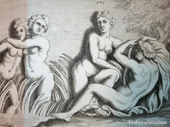 Arte: Le Bain de Diane . S. Thomassin Fecit, Fr Girardon Sculp. 1724. Papel 24x41 cm - Foto 5 - 225215860