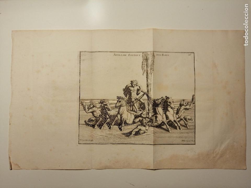APOLLON SORTANT DES EAUX. S. THOMASSIN FECIT, T. HOP. TUBI SCULP. 1724. PAPEL 24X41 CM (Arte - Grabados - Antiguos hasta el siglo XVIII)