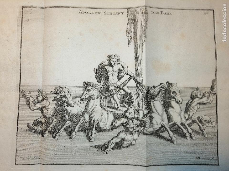 Arte: Apollon sortant des Eaux. S. Thomassin Fecit, T. Hop. Tubi Sculp. 1724. Papel 24x41 cm - Foto 2 - 225215896