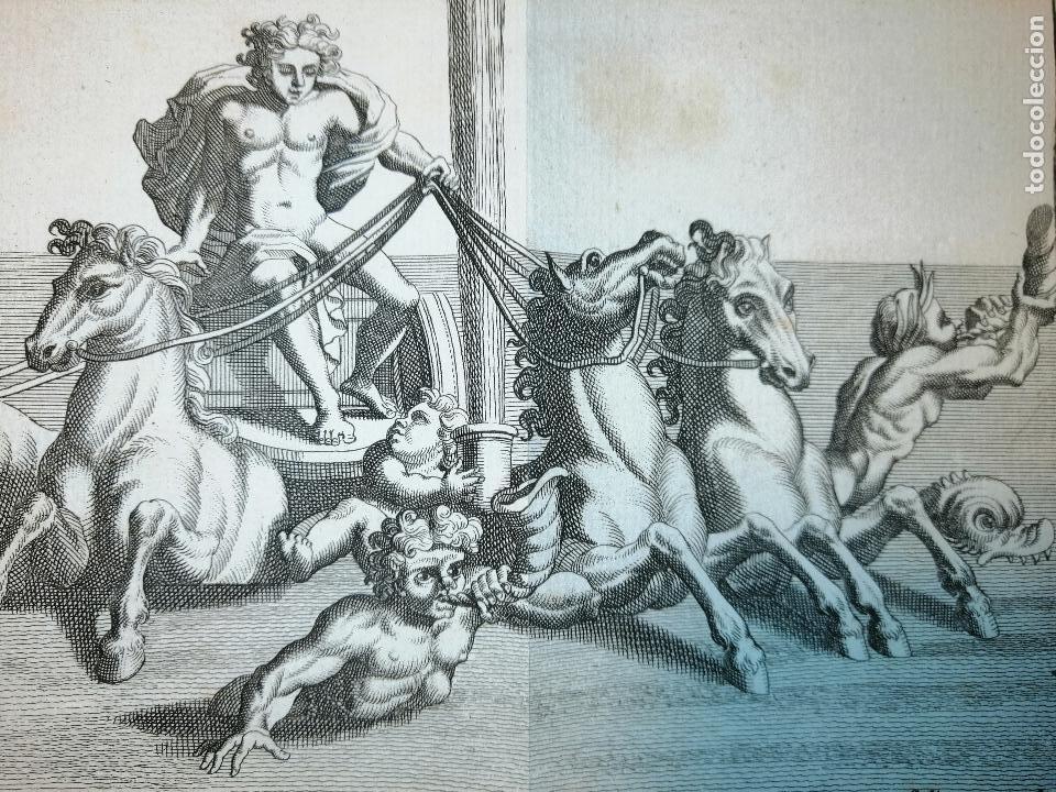 Arte: Apollon sortant des Eaux. S. Thomassin Fecit, T. Hop. Tubi Sculp. 1724. Papel 24x41 cm - Foto 3 - 225215896