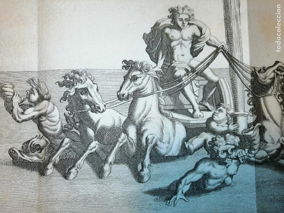 Arte: Apollon sortant des Eaux. S. Thomassin Fecit, T. Hop. Tubi Sculp. 1724. Papel 24x41 cm - Foto 4 - 225215896