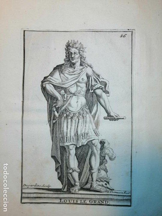 Arte: Louis Le Grand. S. Thomassin Fecit, Des Jardins Sculp. 1724. Papel 24x20 cm - Foto 2 - 225215595