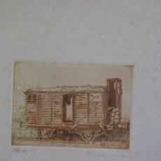 Arte: GRABADO - VAGÓN DE TREN DE MERCANCÍAS - VIRGINIA - FIRMADO Y NUMERADO. Lote 225476820