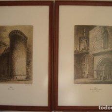 Arte: 2 LAMINAS DIBUJADAS Y GRABADAS POR ERNEST FURIÓ GRABADOR VALENCIANO, ENMARCADOS. Lote 225628383