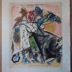 Arte: ALVARO DELGADO (MADRID 1922-2016) GRABADO 1995 DE 40X49 PAPEL 50X61CMS FIRMA LÁPIZ NUMERADO 107/175. Lote 225645150