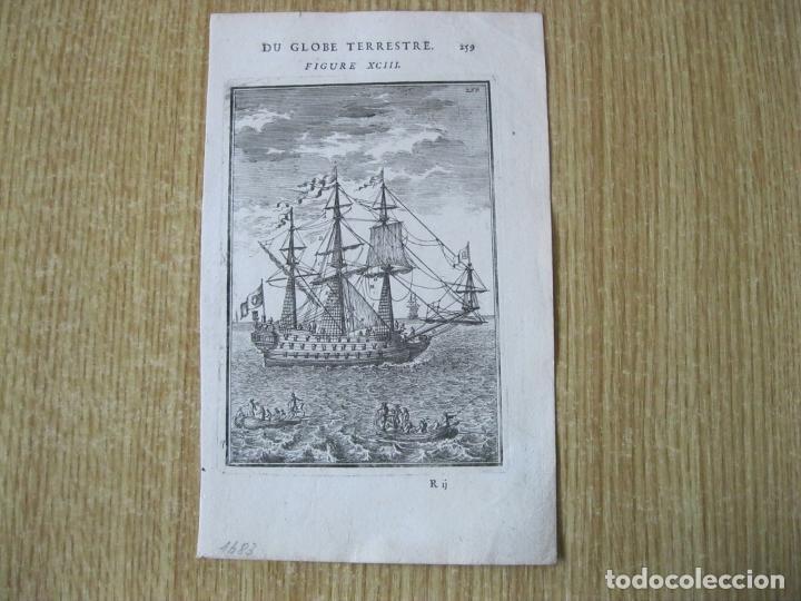 Arte: Barcos de vela y pequeñas embarcaciones, 1683. Mallet - Foto 2 - 225829775