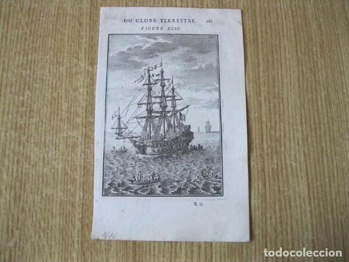Arte: Barcos de velas y embarcaciones a remos, 1683. Mallet - Foto 2 - 225863580