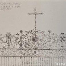 Arte: GRABADO ORNAMENTACIÓN RENACENTISTA, REJA CATEDRAL DE TOLEDO, DETALLES, 1893, PRENTICE. Lote 225994533