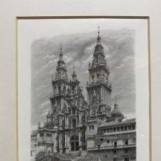 Arte: GRABADO CATEDRAL DE SANTIGO COMPOSTELA - A.MANSO. Lote 226113270
