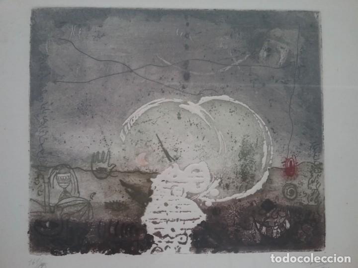 GRABADO. JAFAR T. KAKI. (Arte - Grabados - Contemporáneos siglo XX)