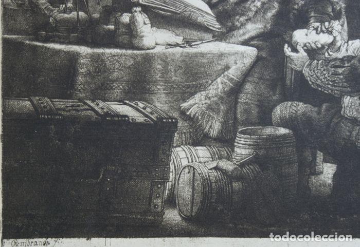 Arte: EL VENDEDOR DE ORO AGUAFUERTE 1.800 REMBRANDT - Foto 2 - 226146015