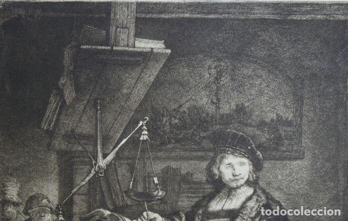 Arte: EL VENDEDOR DE ORO AGUAFUERTE 1.800 REMBRANDT - Foto 4 - 226146015