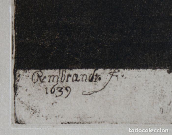 Arte: EL VENDEDOR DE ORO AGUAFUERTE 1.800 REMBRANDT - Foto 6 - 226146015