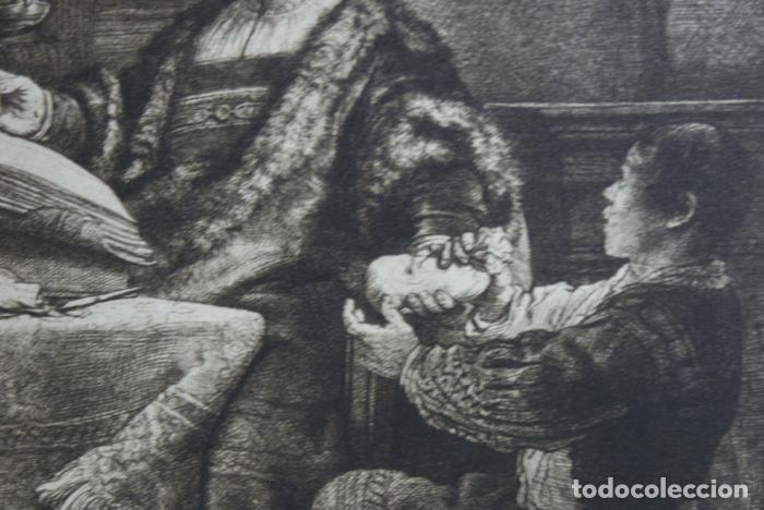 Arte: EL VENDEDOR DE ORO AGUAFUERTE 1.800 REMBRANDT - Foto 11 - 226146015