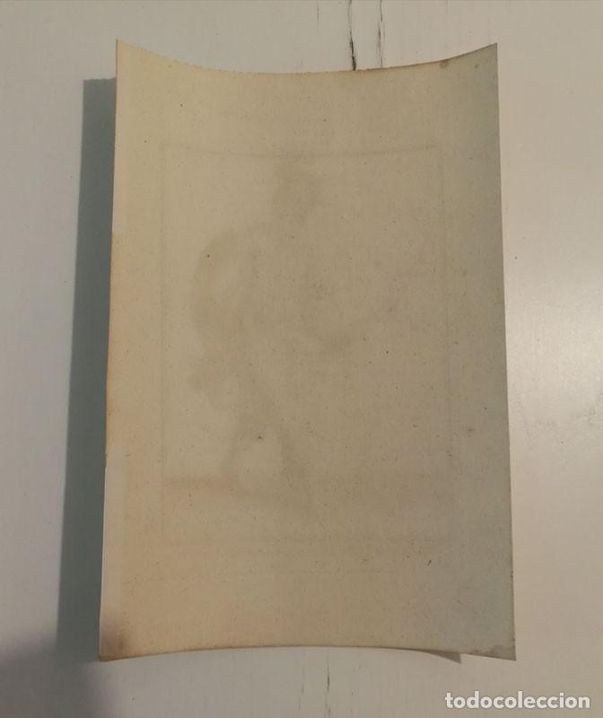 Arte: Grabado antiguo siglo XVIII Caballero Orden Santa Catalina Monte Sinaí Pierre Giffart - Foto 5 - 226454270