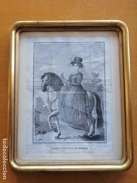 MARIA CRISTINA DE BORBON, REYNA DE ESPAÑA Y DE LAS YNDIAS. ANT. GUERRERO, ANT. VAZQUEZ . CA 1830 (Arte - Grabados - Modernos siglo XIX)