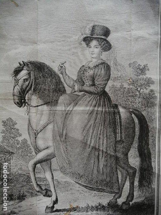 Arte: Maria Cristina de Borbon, Reyna de España y de las Yndias. Ant. Guerrero, Ant. Vazquez . Ca 1830 - Foto 3 - 226590000