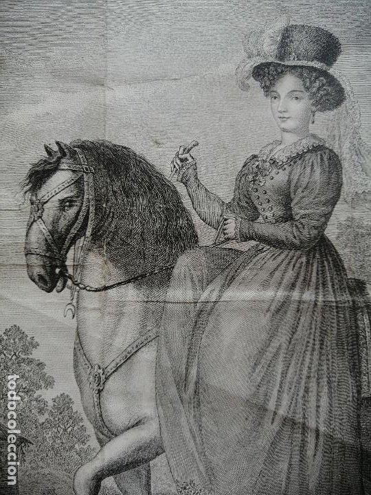 Arte: Maria Cristina de Borbon, Reyna de España y de las Yndias. Ant. Guerrero, Ant. Vazquez . Ca 1830 - Foto 5 - 226590000