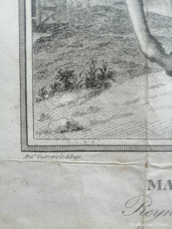 Arte: Maria Cristina de Borbon, Reyna de España y de las Yndias. Ant. Guerrero, Ant. Vazquez . Ca 1830 - Foto 6 - 226590000