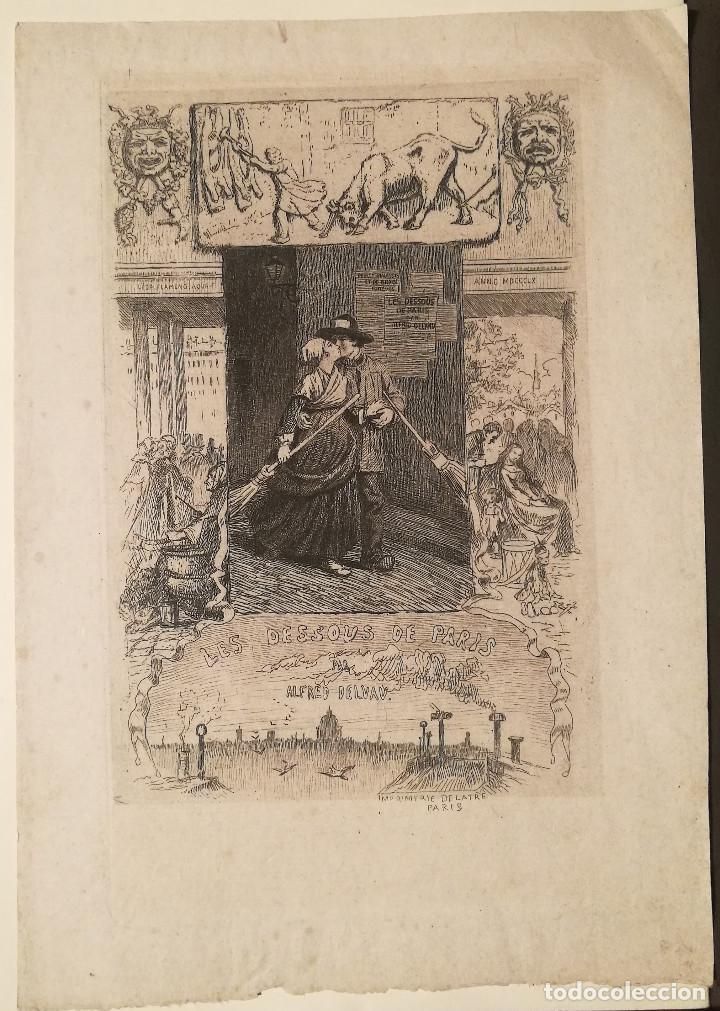 LES DESSOUS DE PARIS POR LEOPOLD FLAMENG (1831-1911) (Arte - Grabados - Modernos siglo XIX)