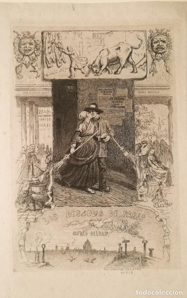 Arte: LES DESSOUS DE PARIS POR LEOPOLD FLAMENG (1831-1911) - Foto 2 - 226601310