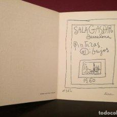Arte: FELICITACIÓN DE NAVIDAD SALA GASPAR. 1960. PICASSO.. Lote 226603465