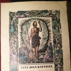 Arte: SANT JOAN BAPTISTA POR FRANCESC CANYELLES (1889-1938). Lote 226608175