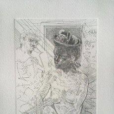 Arte: FRANCESC ARTIGAU.- PINTOR, MODELO Y PERSONAJE (GRABADO PUNTA SECA) (VER FOTOS ADICIONALES). Lote 226610100