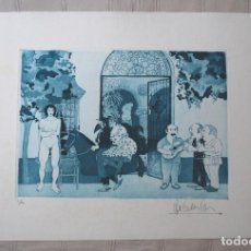 Arte: JOSÉ CASTELLANOS.- GRABADO GROTESCO - SURREALISTA ORIGINAL.V 1/20 (VER FOTOS ADICIONALES). Lote 226612115