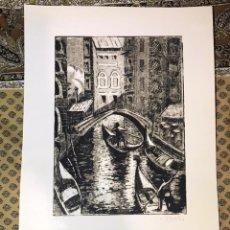 Arte: AGUAFUERTE DE LUIS PUNTES VENECIA -1987. Lote 226681850