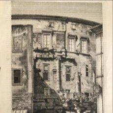 Arte: TRES GRABADOS: VISTA DEL TEATRO MARCELO, DISEÑO TEXTIL Y RUINAS ROMANAS, HACIA 1870. Lote 226904555