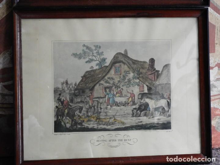 Arte: BONITOS GRABADOS INGLESES DE CAZA GRABADOR C. VERNET - Foto 6 - 227191290