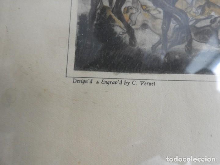 Arte: BONITOS GRABADOS INGLESES DE CAZA GRABADOR C. VERNET - Foto 10 - 227191290