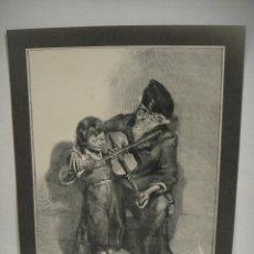 Arte: MAESTRO Y ALUMNO - GRABADO LITOGRAFICO. Lote 227227860