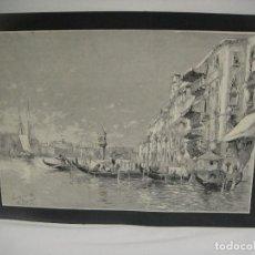Arte: VENECIA EN 1884 - GRABADO LITOGRAFICO. Lote 227228615
