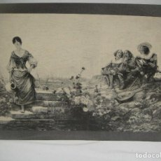 Arte: JOVEN CON CANTARO - GRABADO LITOGRAFICO - ENRIQUE SERRA 1884. Lote 227230870