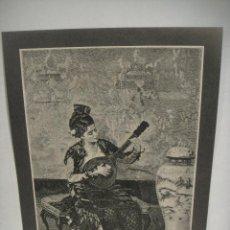 Arte: JOVEN MUSICO ORIENTAL - GRABADO LITOGRAFICO -. Lote 227234165