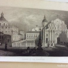 Arte: SICILY. ORIGINAL DRAWINGS MADE BY MR. DEWWINT, FROM THE SKETCHES OF MAJOR LIGTT, 1821. MUY RAROS.. Lote 227257280