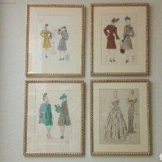 Arte: PRECIOSOS GRABADOS A LA PIEDRA 1940, MUY BIEN ENMARCADOS, 41X33.. Lote 227590830