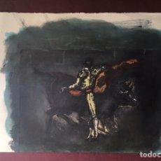 Arte: GRABADO CON TAUROMAQUIA DE CELSO LAGAR (CIUDAD RODRIGO, SALAMANCA 1891-SEVILLA 1966). Lote 227994005